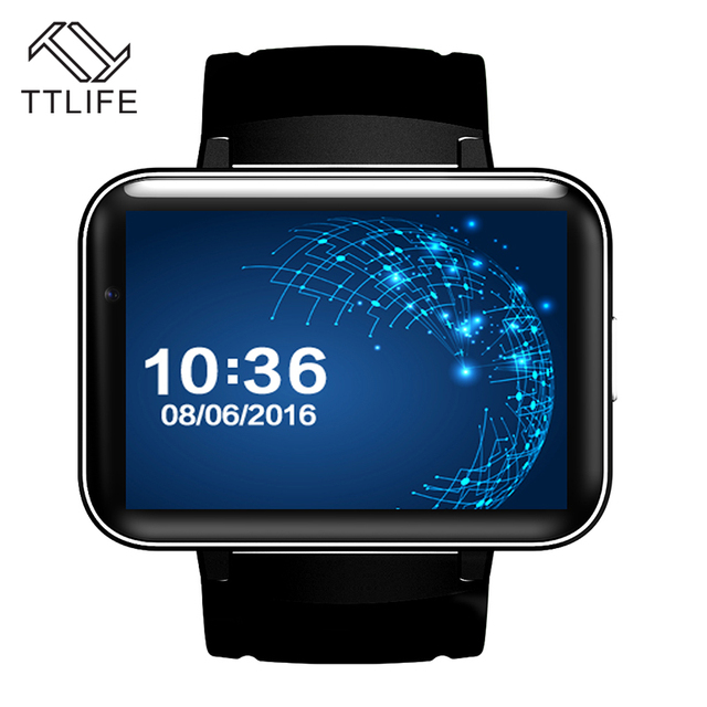 "TTLIFE Мода 2.2 ""большой Экран DM98 Smart Watch Динамик Bluetooth Wi-Fi GPS 3 Г Умный Наручные Часы Часы Android 4.4 Камера Часы"