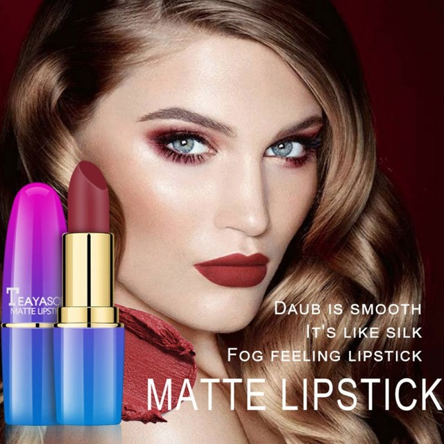 2018 New Matte Lipstick Makeup Smooth Waterproof Lipstick Long Lasting Liquid Lip Gloss Cosmetics Lipstick Makeup