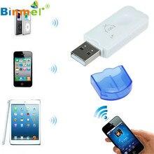 Цена завода Горячие Продажи Binmer USB Беспроводной Громкой Связи Bluetooth Аудио Музыка Приемник Адаптер для iPhone 4 5 Бесплатная Доставка