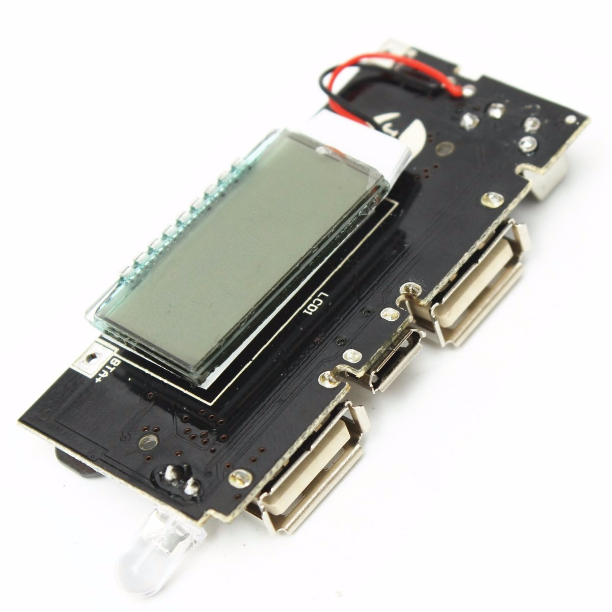 Diy 6 Charge Lcd Screen 18650 Mobile Power Box Motherboard Kit Fm Pcb Circuit Boardpcb Board Assemblycar Radio Usb Am 2pcs Dual 5v 1a 21a Bank Battery Charger Module