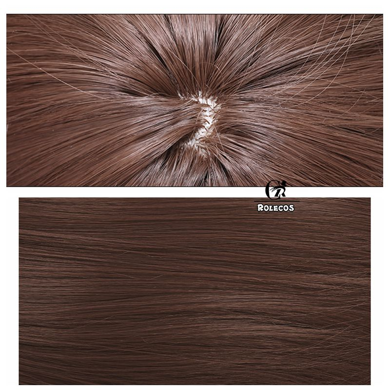 ROLECOS Tooru Honda Cosplay Hair Anime Fruits Basket Cosplay Headwear 80cm Natual Brown Women Hair Long Heat Resistant Synthetic
