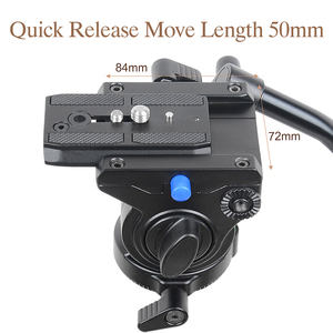 Image 3 - XILETU Professional Video Camera Fluid Drag Tripod Head with Quick Release for DSLR Camera Camcorder Shooting Q19813