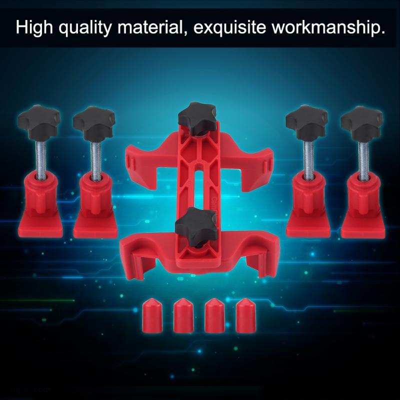 9pcs Car Engine Timing Locking Dual Cam Clamp Camshaft Engine Timing Sprocket Gear Locking Tool Kit