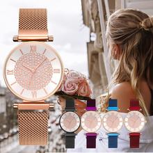 цена на Fashion Watch Quartz Women Ladies Dress Watches reloj mujer Luxury Crystal Magnetic Waterproof Bracelet Clock relogio feminino