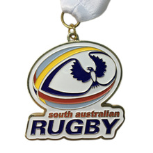 Customized Brass Stamping medals cheap Soft Enamel australian Rugby Competition Award Medal