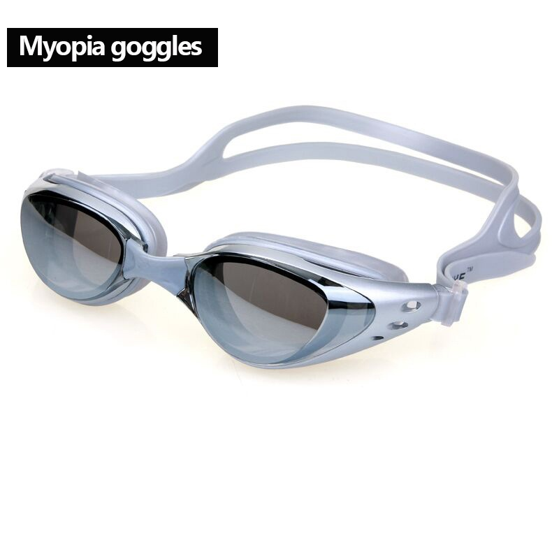 350 Degrees Professional Silicone Myopia Swimming Goggles Anti-fog UV Swimming Glasses With Earplug Diopter Sports Eyewear New