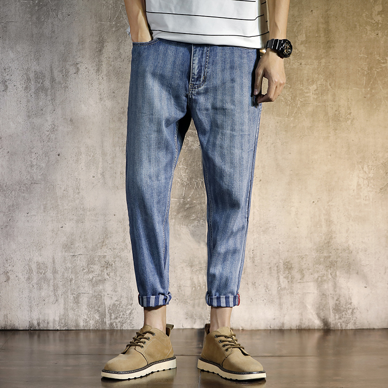 2018 New Mens Jeans Fashion High Quality Stretch Jeans Slim Loose Jeans Mens Streetwear Pants Hip-Hop Loose Trousers Fashion S ...