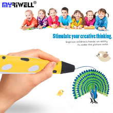 Myriwell Drawing 3d Pen Diy Stylo 3d Pens for Kids Christmas Birthday Gifts Arts and Crafts Pla PCL ABS Filament Magic Pen цена