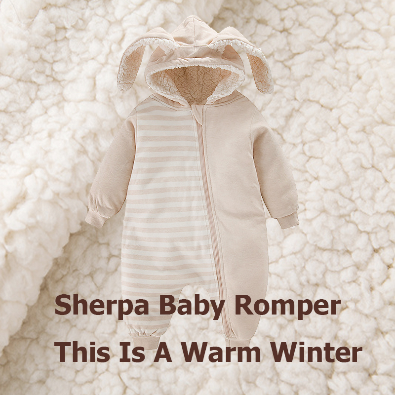 CLEARANCE SALE Sherpa Snowsuits Baby clothes Babies romper for newborn Winter baby boy girl rompers Rabbit coat Autumn jumpsuit