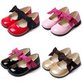 Christmas Girls Leather Shoes Fashion Patent Leather Bow Slip For Children Kids Dress Wedding Party Slip Footwear
