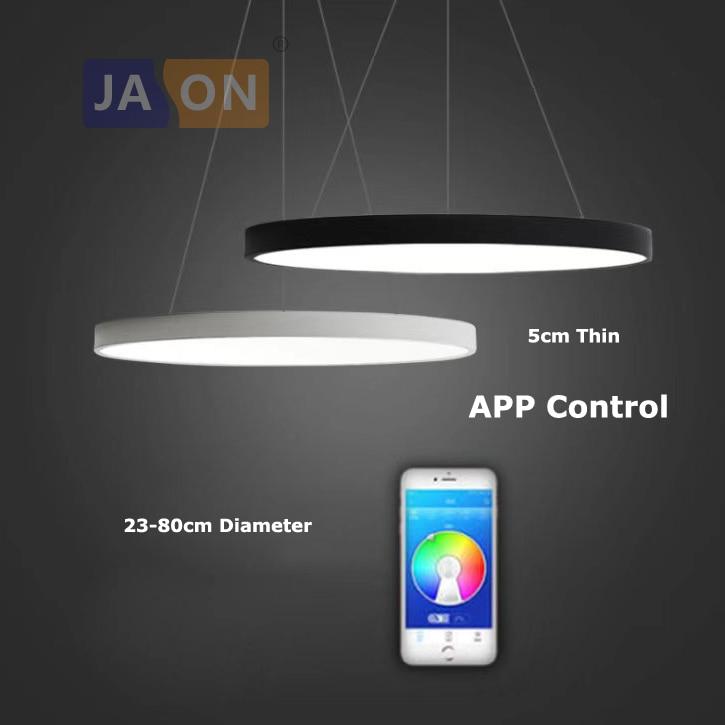 LED Modern Acryl Iron Round 5cm Thin APP Control LED Lamp LED Light.Pendant Lights.Pendant Lamp.Pendant Light For Dinning Room