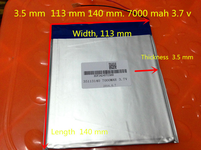 3.7V 35113140 battery dual core,gemei G6T,VI40 dual core,A11 Quad-Core,tablet pc battery 7000MAH SGR241