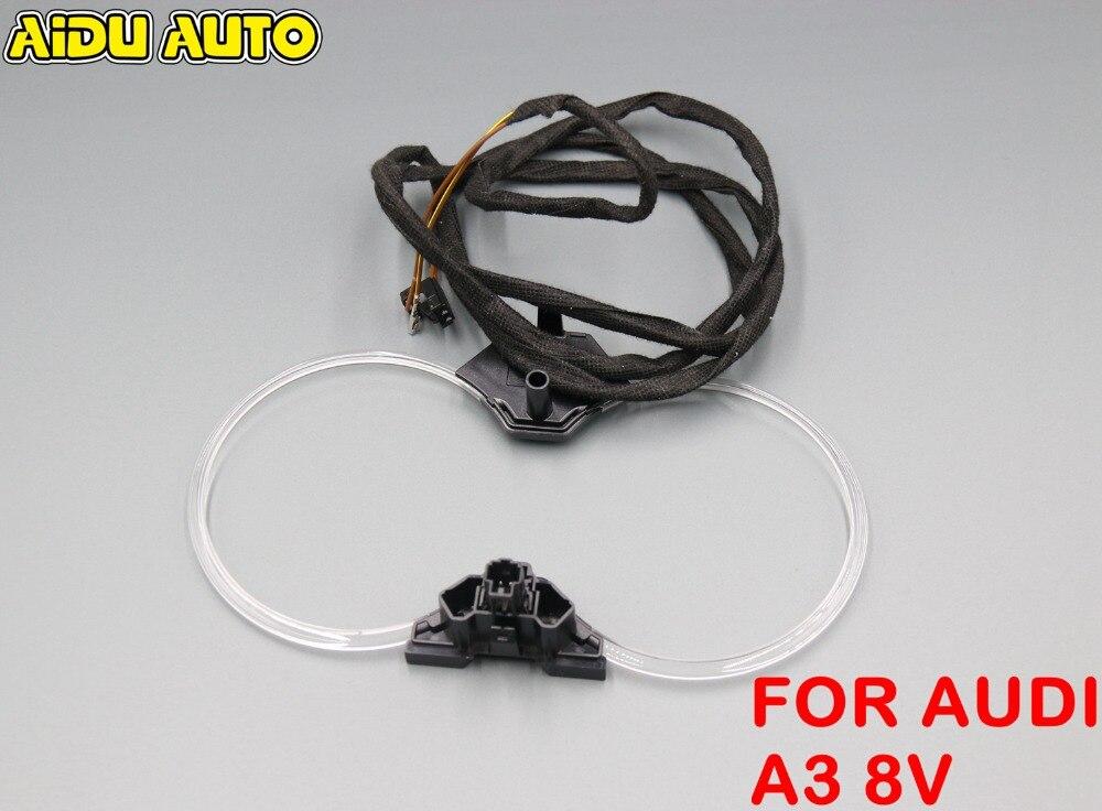 For Audi A3 S3 8V Ambient Cup holder light lights with install Harness 8V0 947 157 A 8V0947157AFor Audi A3 S3 8V Ambient Cup holder light lights with install Harness 8V0 947 157 A 8V0947157A