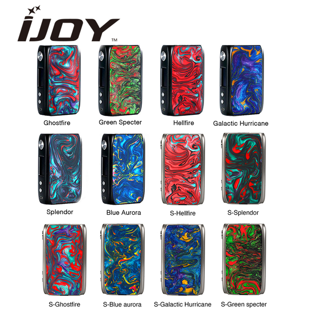 Original IJOY Shogun Univ 180W TC MOD Powered By Dual 18650 Batteries & Big Fire Button Ecig Vape Mod VS VOOPOO Drag TC Mod