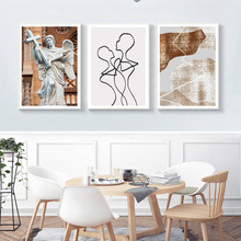 Abstract Art Painting Vintage Wall Poster Nordic Prints Posters and Decoration Home Unframed