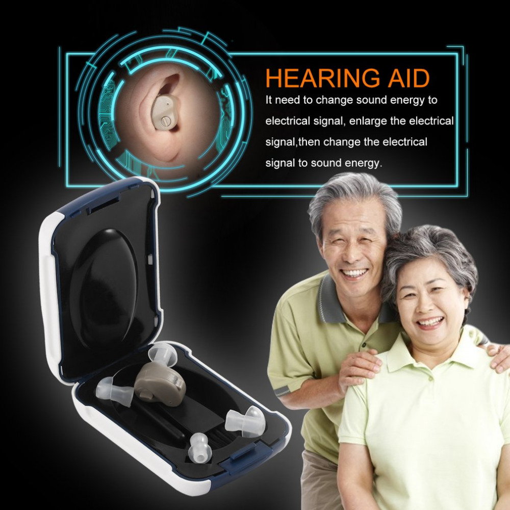 New Small In-Ear Voice Sound Amplifier Adjustable Tone Mini Hearing Ear Aid