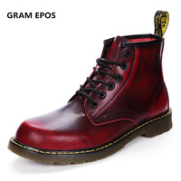 GRAM EPOS 2017 Male Fashion Ankle Boots Winter Autumn Men S Motorcycle Martin Boots Men Boots