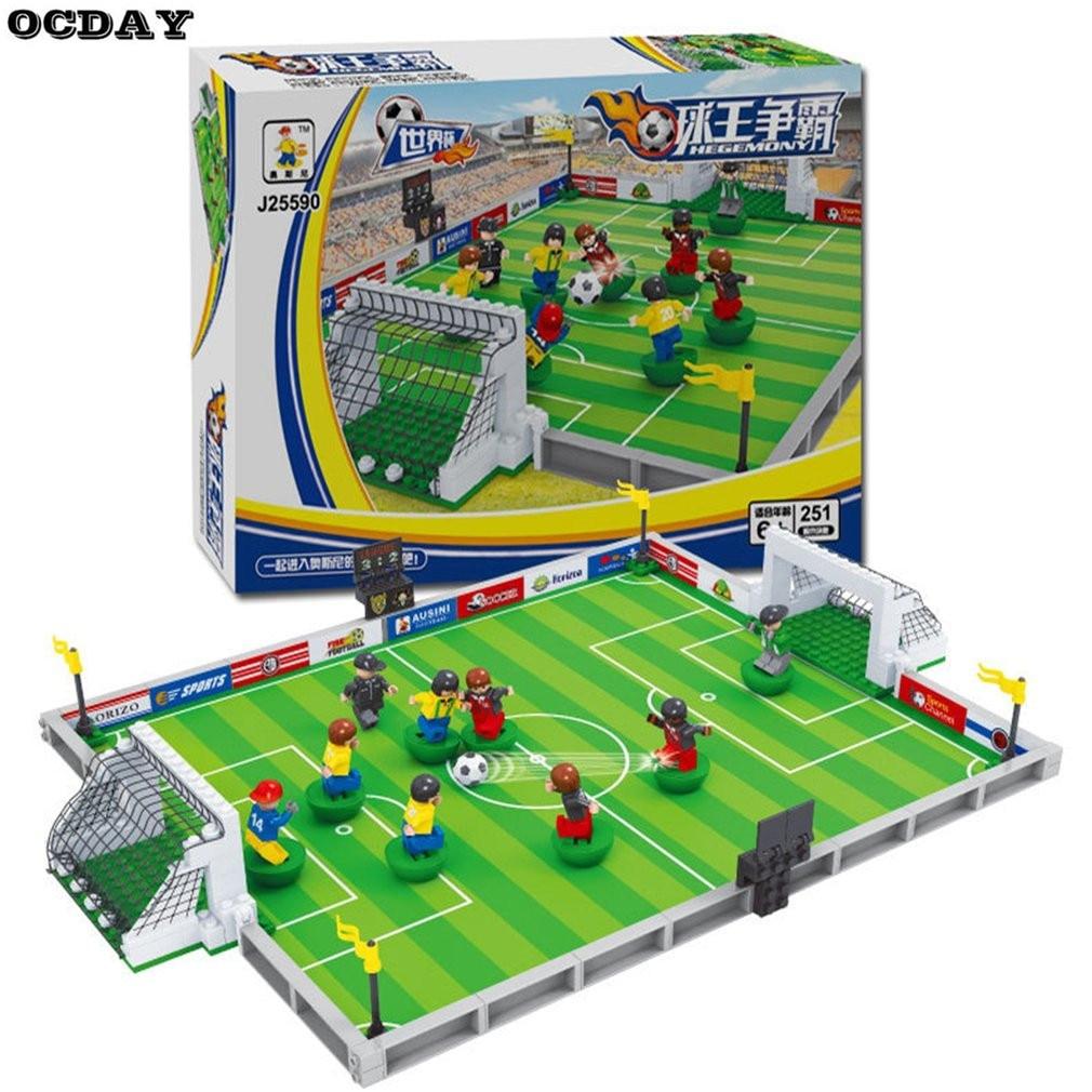 OCDAY Model Building Kits Compatible For Lego City Football 3D Blocks Educational Model Toys Develop Hobbies Interest For Child model building kits compatible with lego city football 200 3d blocks educational model