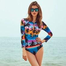 цена на lyric Surfing Long Sleeve Bikini Set Halter Swimsuit Sexy Swimwear Women Bathing Suit Summer Vacation Beach Wear