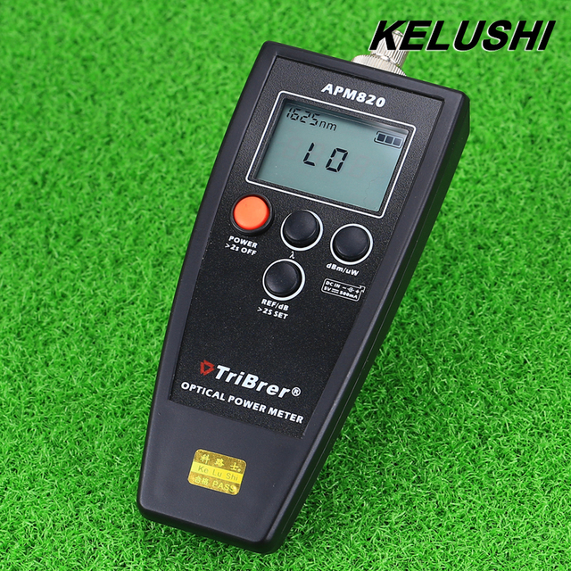 KELUSHI Free Shipping FTTH Fiber Optical Power Meter Cable Tester -70dBm~+10dBm SC/FC Connector APM-820