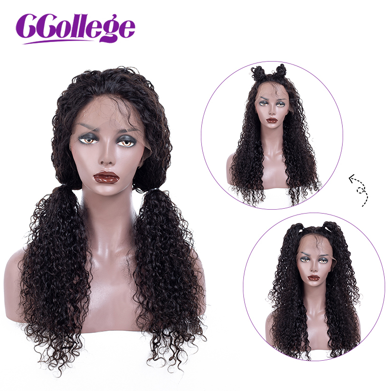 Brazilian Curly Human Hair Wigs Glueless Pre Plucked Natural Hairline With Baby Hair Full End Lace Front Wig Remy Hair Wigs