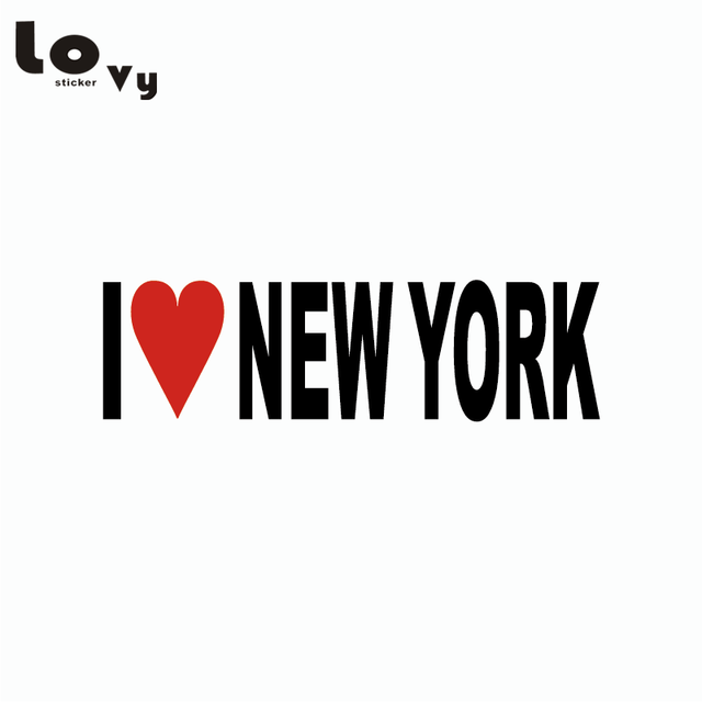 I love new york car sticker personality text vinyl decal car window body decor