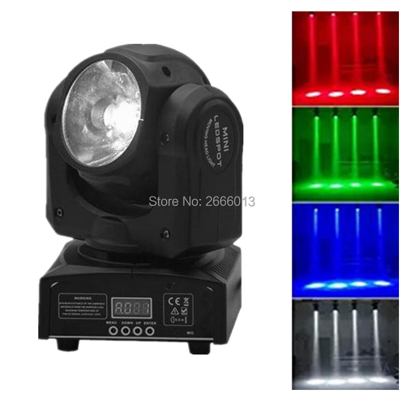 DHL Free Shipping RGBW 60W LED Spot Moving Head Light 60W LED Beam Stage Effect Lights Super Bright Beam LED DJ Disco Lighting цена