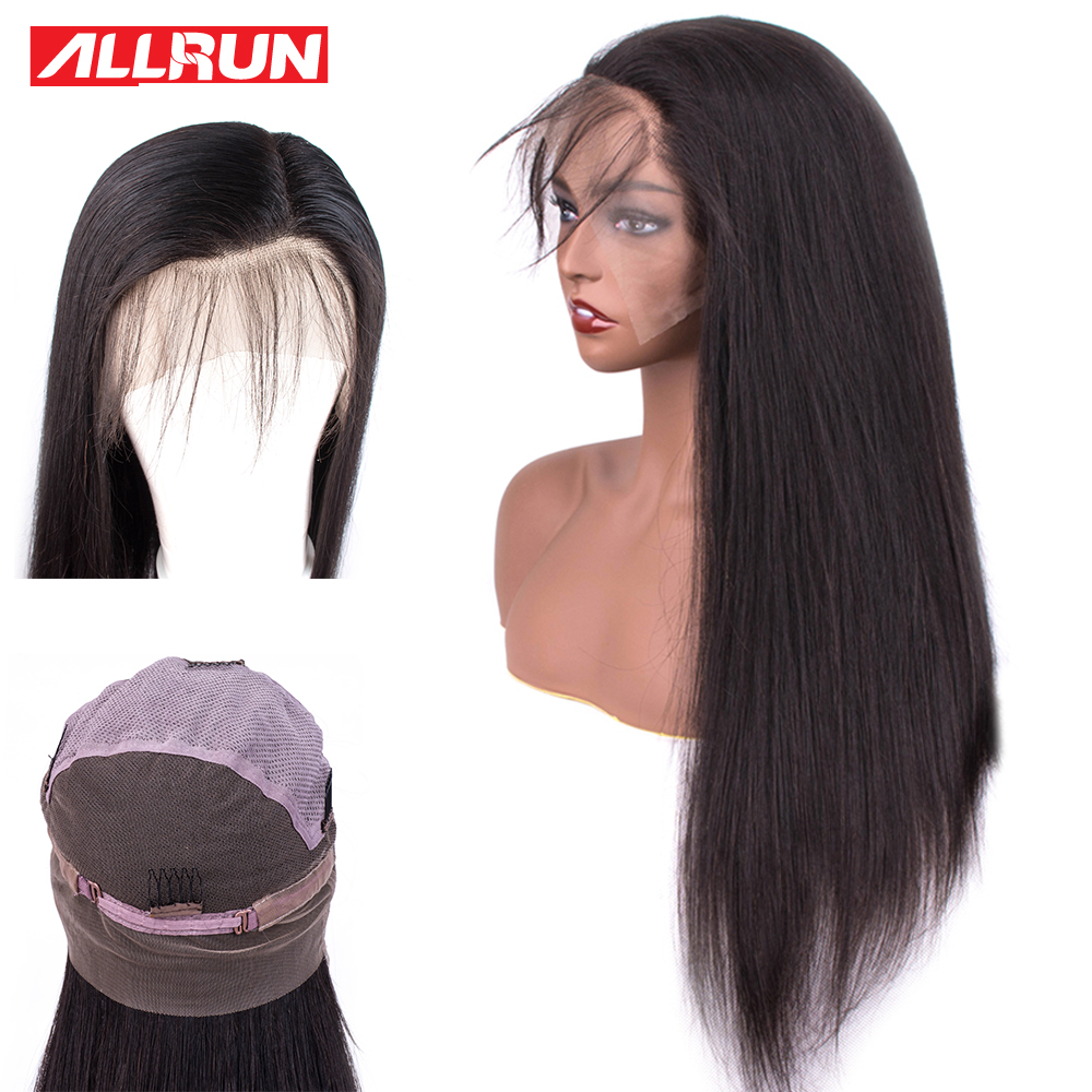Pre plucked Full Lace Human Hair Wigs For Black Women non Remy Straight Lace Front Wigs Hairline Malaysia Full Lace Wigs(China)