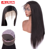 Pre plucked Full Lace Human Hair Wigs For Black Women non Remy Straight Lace Front Wigs Hairline Malaysia Full Lace Wigs