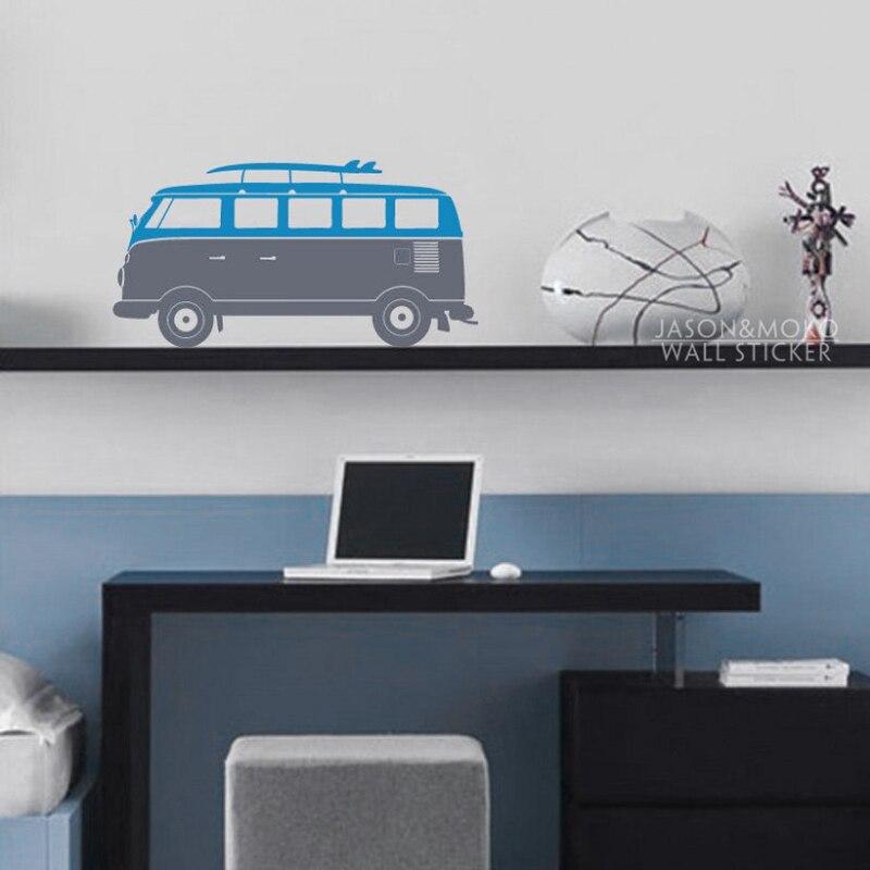 mignon bus voiture conduite vinyle stickers muraux sticker mural papier peint enfants bb ppinire salle de jeux art 30x60 cm accueil dcoration de nol