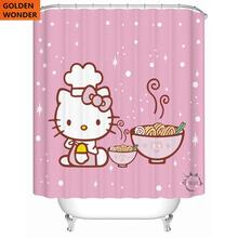 Modern Fashion High Quality Cartoon Thick Polyester Waterproof Shower Curtain Bathroom Curtains