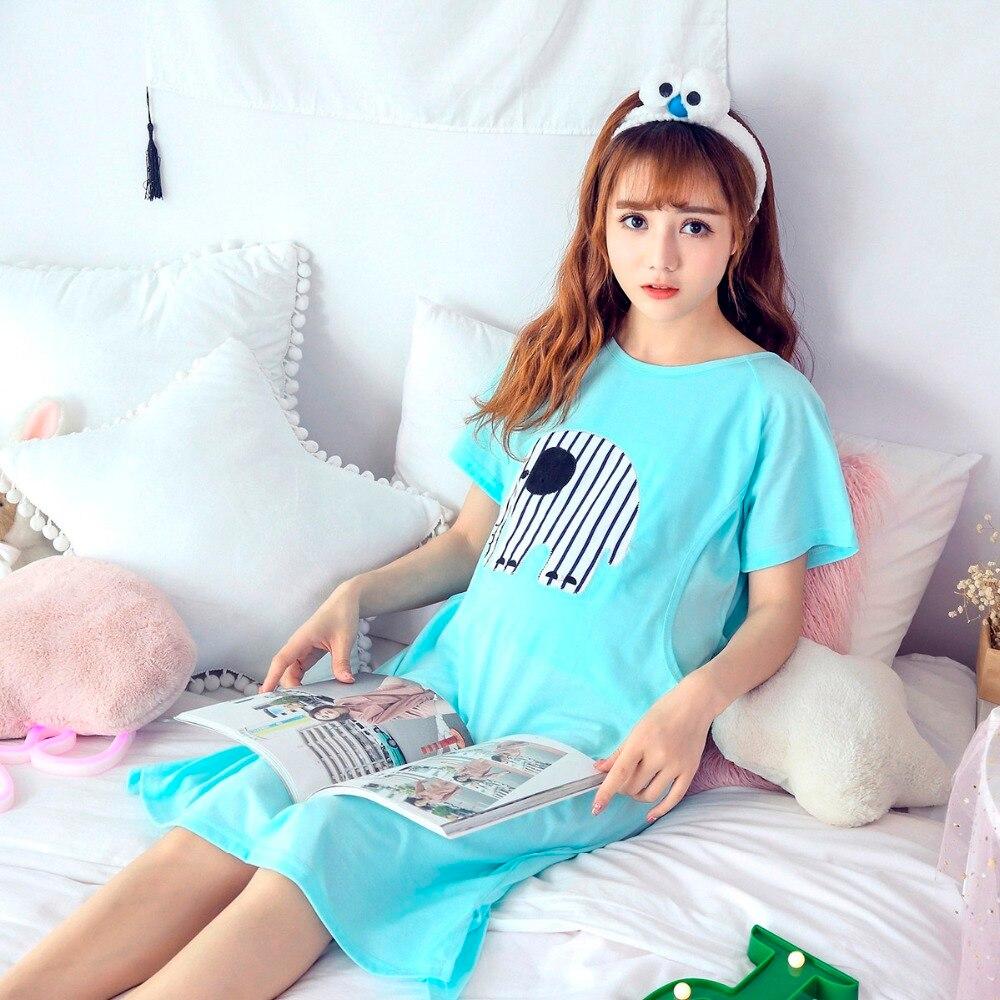 Maternity pajama sleepwear nursing nightwear for pregnant women nightdress maternity breastfeeding nightgown pregnancy sleepwear