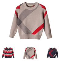 Hot Sale Boy Sweater 2017 Autumn Brand Design Wool Knitted Pullover Cardigan For Baby Girls Children