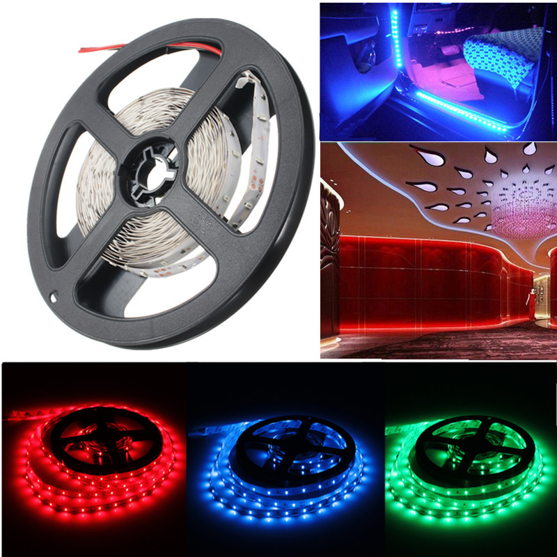 5M LED Strip Light 3014 SMD Non-Waterproof Car Decoration DC12V FLEXIBLE Strip Lighting