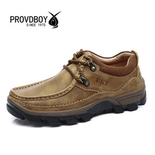 2017 New men outdoor hiking high quality shoe cow genuine leather trekking mens sport sneakers fishing camping comfortable shoes