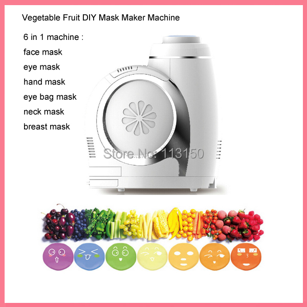 DHL free shipping 6 IN 1 Multifunctional DIY Fruit & Vegetable Beauty Mask Maker Machine For Eye/Face/Neck/Breast/Foot/Hand engine case alternator generator stator guard cover for kawasaki zx6r zx 6r zx636 zx 6r 636 2013 2014 2015 2016