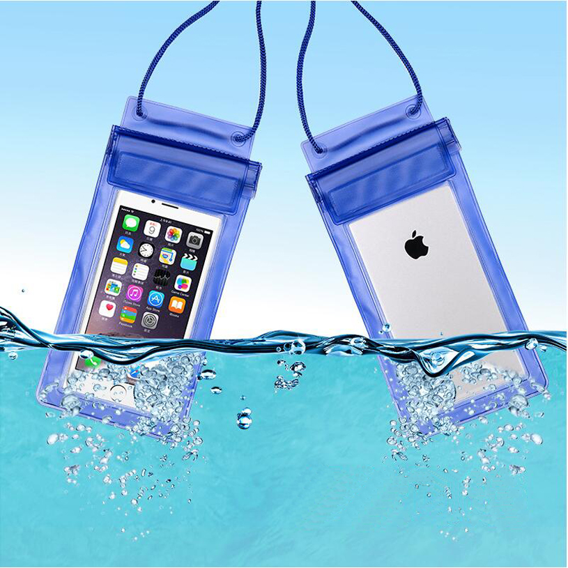 Men Women Outdoor Mini Swimming Waterproof Case Bag Underwater for Phone iphone 7 plus 7 Colors waterproof armband bag case w compass for iphone 5 blue