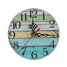 Диаметр 12 см настенные часы Домашние украшения часы потертый шик ретро часы декор комнаты принадлежности Античный Декор