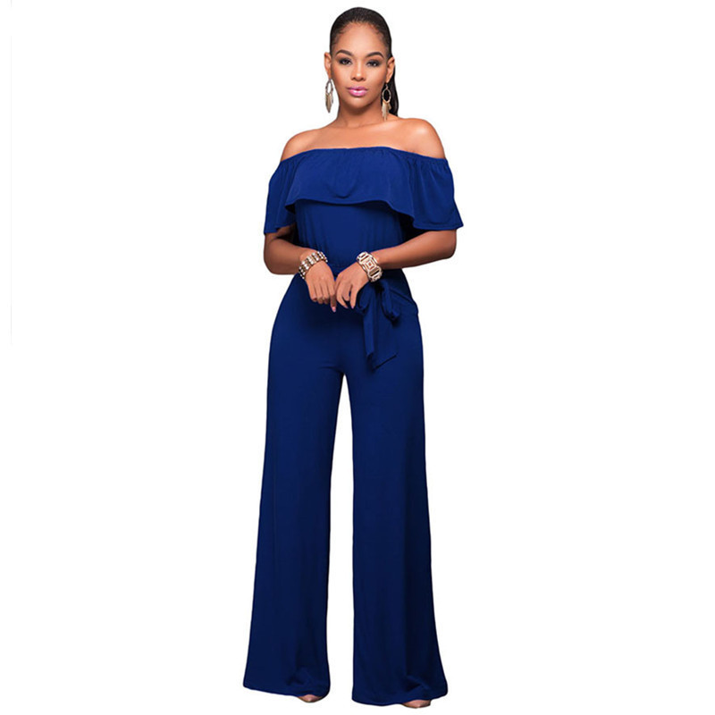 Fashion Sexy Jumpsuit Brand Clothing Bodysuit Overalls -9860
