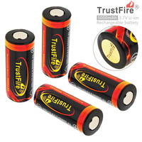 4pcs TrustFire 3.7V 26650 5000mAh Li ion Rechargeable Battery Bateria with Protected PCB for LED Flashlights Headlamps