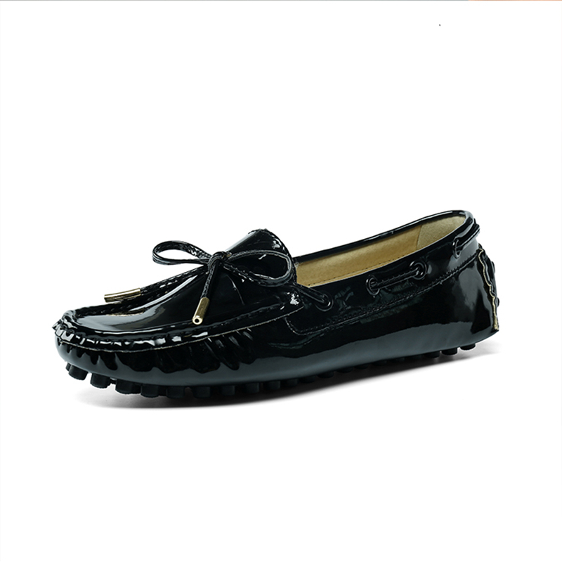 ФОТО Big Size US 5-10  40 41 Women Leather Like Comfort Slip On Penny Loafer Girls Ballerina Flat Pregnant Casual Shoes