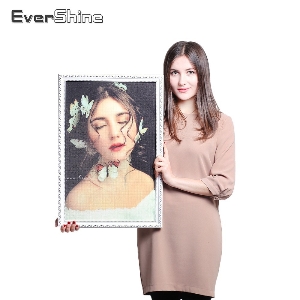 Evershine Photo Custom Diamond Maleri Kit Billede af Rhinestones Diamond Mosaic Fuld Kvadrat Diamond Embroidery Holiday Gaver