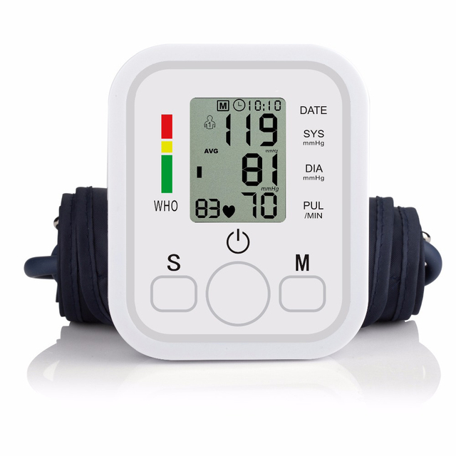 ZOSS  English or Russian Voice broadcast digital LCD upper arm blood pressure monitor heart beat instrument tonometer heart rate 2