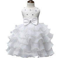 2016 Child Christening Summer Baby Girl Lace Dress Kids Ruffles Lace Tutu Dresses For Girls Princess