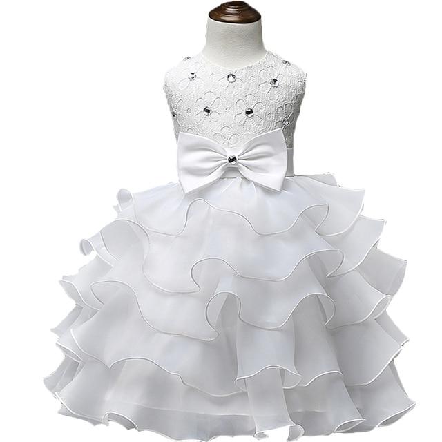 2018 Trẻ Em Làm Lễ Rửa Tội Mùa Hè Bé Gái Ren Áo Trẻ Em Ruffles Ren Tutu Dresses Cho Cô Gái Công Chúa Các Sự Kiện Tiệc Cưới Mặc