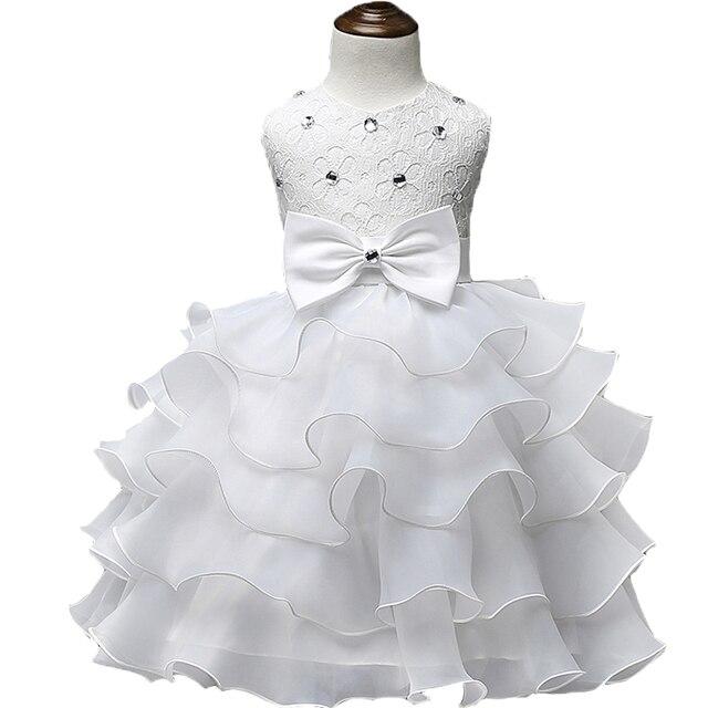 8a3909592 2018 niño bautizo verano bebé niña encaje vestido niños volantes encaje  tutú vestidos para niñas princesa