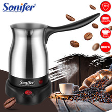 304 Stainless Steel Coffee Machine Turkey Coffee Maker Electrical Coffee Pot Boiled Milk Coffee Kettle for Gift 220V Sonifer(China)