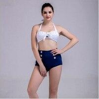 Nouvelle femme maillot de bain en gros maillots de bain bandage bikini 2016 sexy plage haute taille cut out bikini maillot de bain femme recadrée top nager