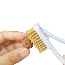 10pcs Handle Brass Bristle Wire Brush 6.9 Length Steel Nylon Cleaning Polishing Metal Rust