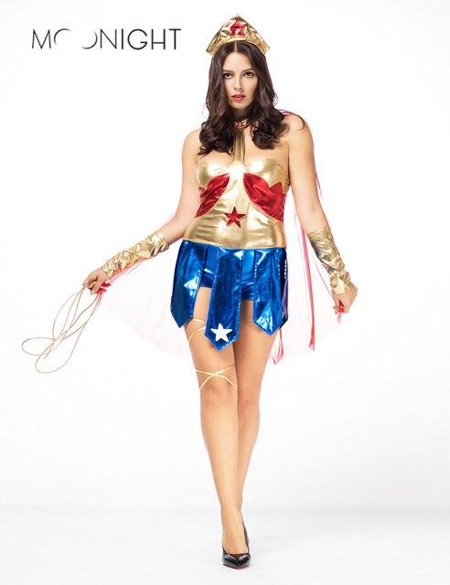 Halloween Kostuum Vrouw.Moonight Halloween Volwassen Supergirl Kostuum Vrouw Superhero Cosplay Superman Kostuums Meisjes Party Gown Kleding